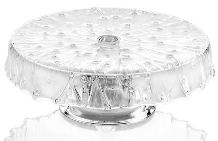 Rugiada Footed Cakestand 26cm Clear
