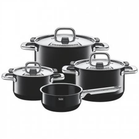 Nature Colour Nature Black Cookware Set 4pce
