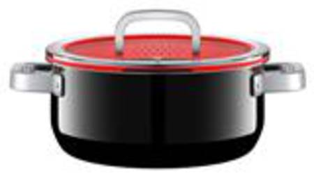 Low Casserole with Lid 24cm 4.4ltr - Black