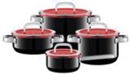 WMF Fusiontec Functional Cookware Set 4 Piece - Black