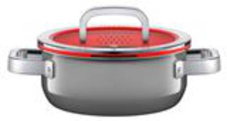 Low Casserole with Lid 20cm 2.4ltr - Platinum