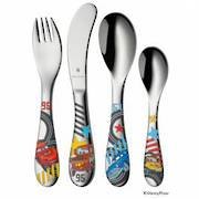 """Cars 2"" 4pce Childs Cutlery Set"