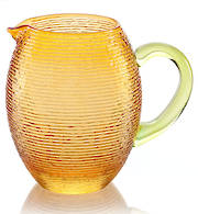 Multicolor Pitcher Amber w Green Handle 1.5 Ltr