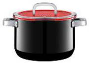 High Casserole with Lid 24cm 6.4ltr - Black