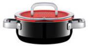 Low Casserole with Lid 20cm 2.4ltr - Black